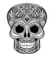Decorative skull black doodle icon vector image