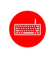 desktop keyboard office outline red icon design vector image vector image