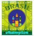 Digital brasil chapion winners podium vector image vector image