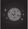 Disco ball icon vector image vector image
