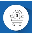 e-commerce cart shop bag money icon vector image