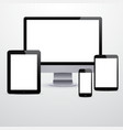 Electronic devices with blank white screens vector image