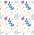 Elegant floral seamless pattern with plants