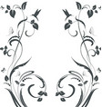 elegant floral swirl frame for your design vector image vector image
