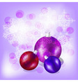 eps10 christmas balls on background with snowflake vector image vector image