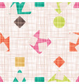 fabric with geometric shapes vector image vector image