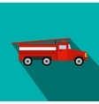 Fire truck flat icon vector image vector image