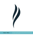 flame swoosh icon logo template design eps 10 vector image vector image