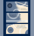 flyer grunge texture set abstract card blue vector image vector image