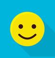 funny emoticon icon flat style vector image vector image