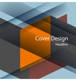 geometric background Line and square vector image vector image