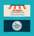 Gift coupons with Business concept Infographics vector image vector image