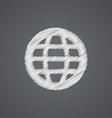 globe sketch logo doodle icon vector image vector image