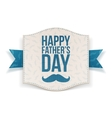 Happy Fathers Day festive Banner with blue Ribbon vector image vector image