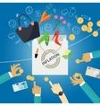 inflation goods price increase macro economy vector image vector image