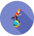 Juggling Sticks on Ball vector image
