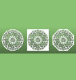 laser cut coasters ornate with mandala floral vector image vector image