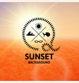 light brown sunset with orange water sea surface vector image vector image
