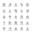 line icons of business management vector image