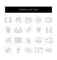 line icons set cinema pack vector image vector image