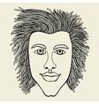 Lines art design of man vector image