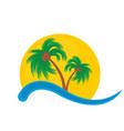 logo of tropical island vector image
