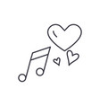 love music line icon concept love music vector image vector image