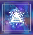 Magic geometry background with triangle