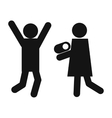 Man woman and child icon vector image vector image