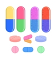 Medical set tablet and pills vector image