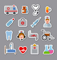medicine stickers and icons vector image vector image