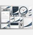 modern clean brand stationery template set vector image vector image