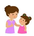mother admire daughter character cartoon xa vector image vector image
