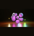 multicolored balls on a bright background spheres vector image