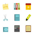 office stuff icon set flat style vector image