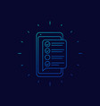 online survey form in phone checklist icon vector image vector image