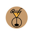 orange drink logo simple line color design vector image vector image