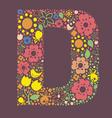 Ornamental floral letter D vector image vector image