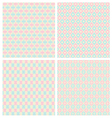 Pastel Diamond Shape Seamless Patterns vector image