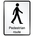 Pedestrian route Information Sign vector image vector image