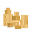 pile of stacked sealed goods vector image vector image