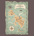pirate map grunge vector image