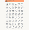 restaurant food drink icons vector image