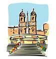 Rome Trinita dei Monti vector image vector image