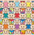 seamless background children vector image vector image