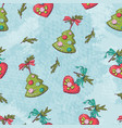 seamless christmas pattern vactor vector image vector image