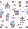 seamless pattern with amusement park attractions vector image vector image