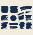 set of hand drawn brush strokes and stains vector image vector image