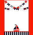 set of nautical brochures in vintage style vector image vector image