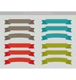 set ribbons vector image vector image